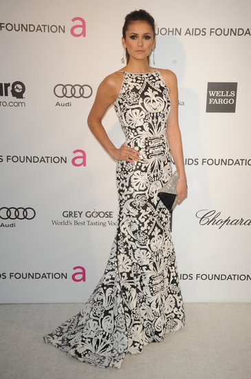 nina dobrev Naeem Khan at elton john oscar party 2013