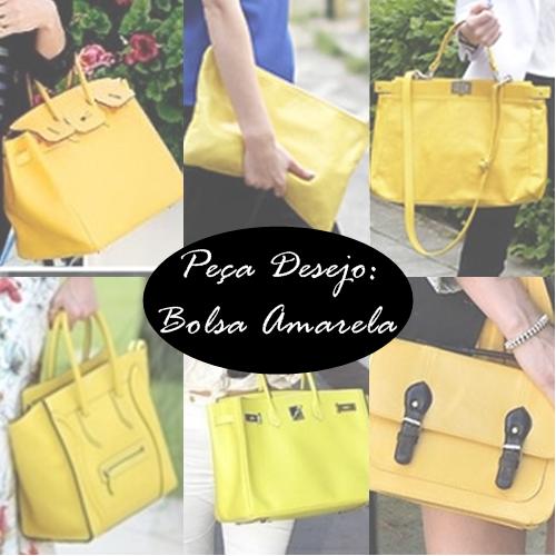desejo bolsa amarela